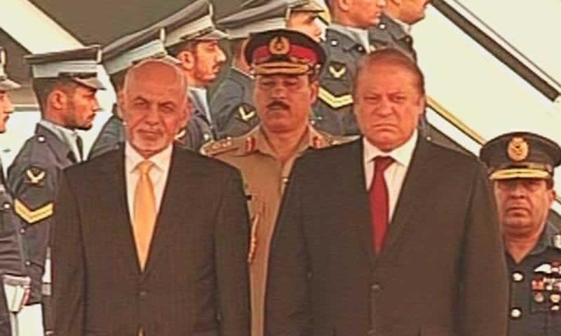 Ashraf Ghani arrives in Islamabad