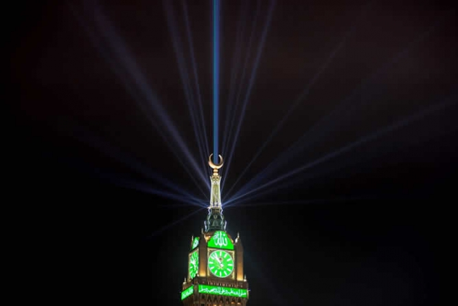Laser lights Show Organized in Makkah to Celebrate Rabi-ul-Awwal