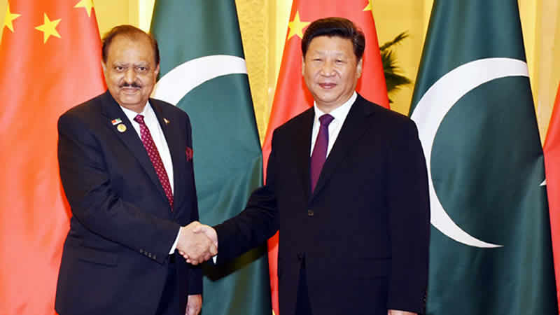 Mamnoon Hussain and President Xi Jinping