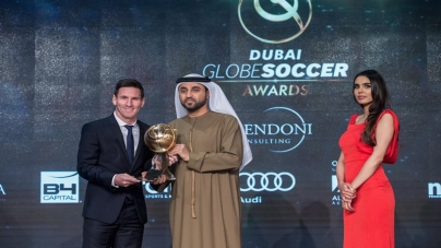 Messi, Barcelona Win Awards In Dubai