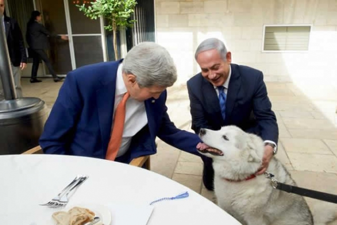 Netanyahu Family Dog Put in Quarantine after Biting Guests