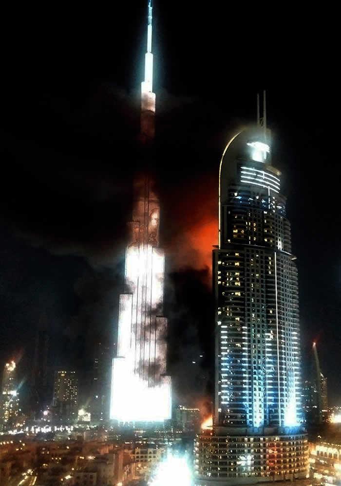 Blaze engulfs Dubai