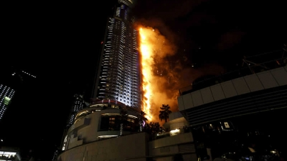Fire Breaks Out in Dubai Skyscraper Near the Burj Khalifa