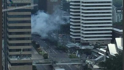 Multiple Explosions and Heavy Gunfire in Central Jakarta