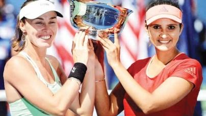 Sania Mirza, Martina Hingis win Australian Open doubles