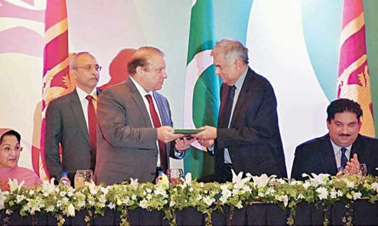 Sharif presents 'Majestic Pakistan' to Lankan PM