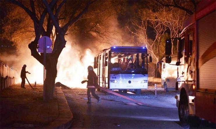 28 killed in Ankara Car Bomb Attack on Military