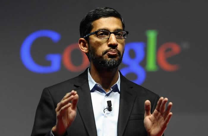 Google boss heading