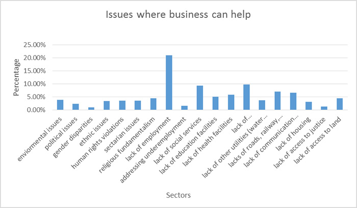 issues where business can help