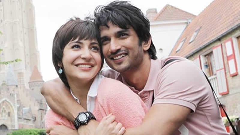 Sushant Singh with Anushka in PK