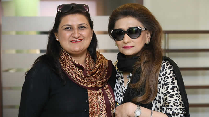 Zehra Umair with Nazneen Tariq