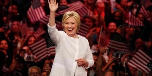 Hailing A Milestone Clinton Declares Victory In Democratic Race