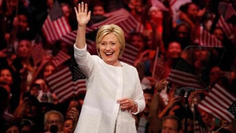 Hailing A Milestone Clinton Declares Victory In Democratic Race