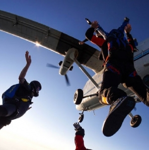 Woman skydives to celebrate her 87th birthday