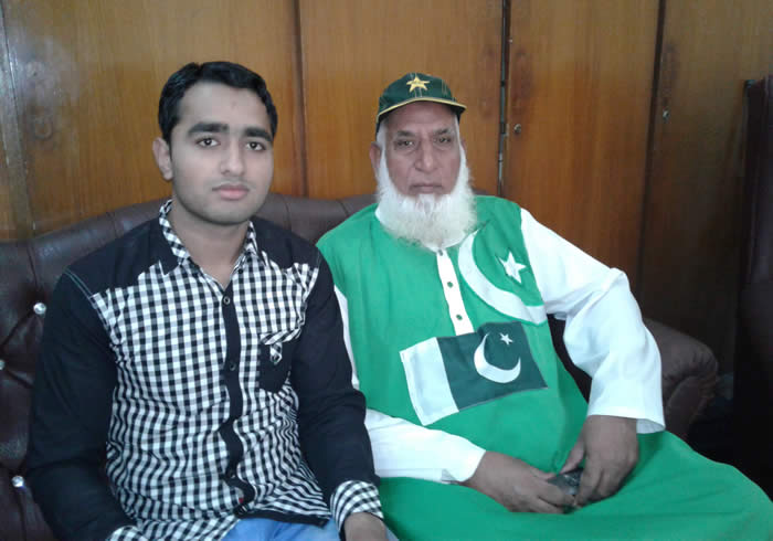 Ali Hassan with Chacha Cricket
