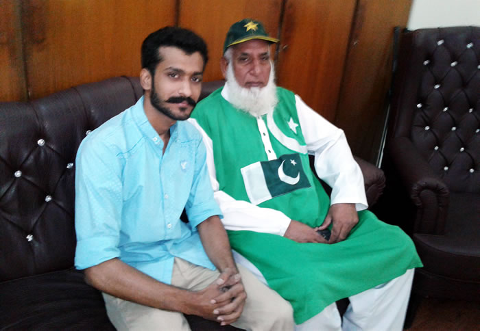 Usman Malik with Chacha Cricket