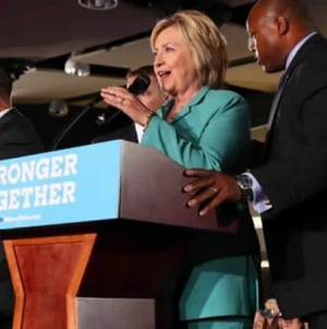 Secret Service Agents Rushed On Stage To Protect Hillary