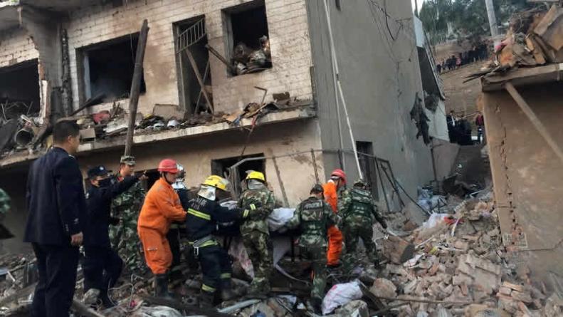 7 Dead, 95 Injured In Huge Blast In Town In Northwest China (PHOTOS)