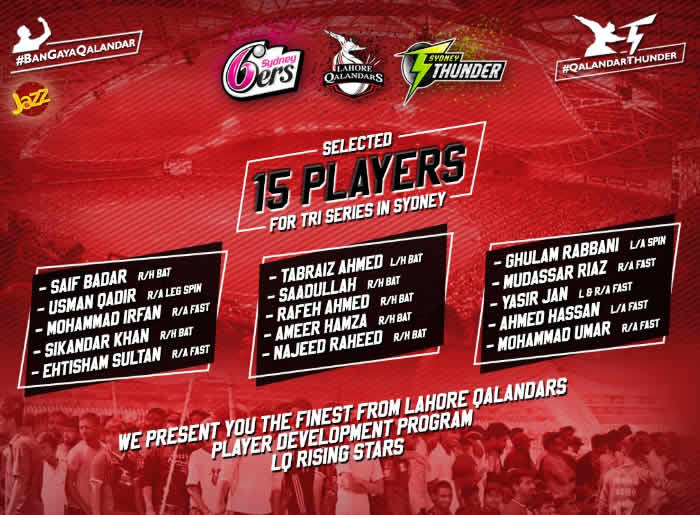 Lahore Qalandars 15 Players
