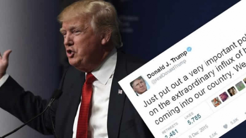 Muslim Ban Statement Disappears From Trump Website, But Tweet Remains There