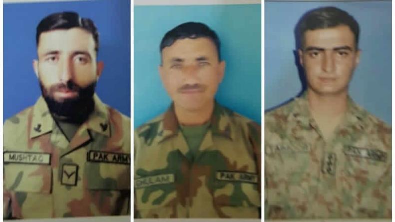 Three Pakistani Soldiers Martyred In Indian Forces Fire At LoC