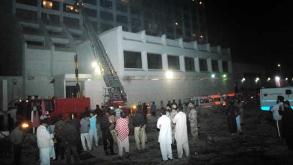 Karachi Hotel Fire kills At Least 11
