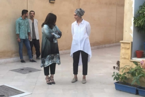 Ms. Taiyaba (Principal CornerStones) with Syeda Zheela (Principal Coordinator)