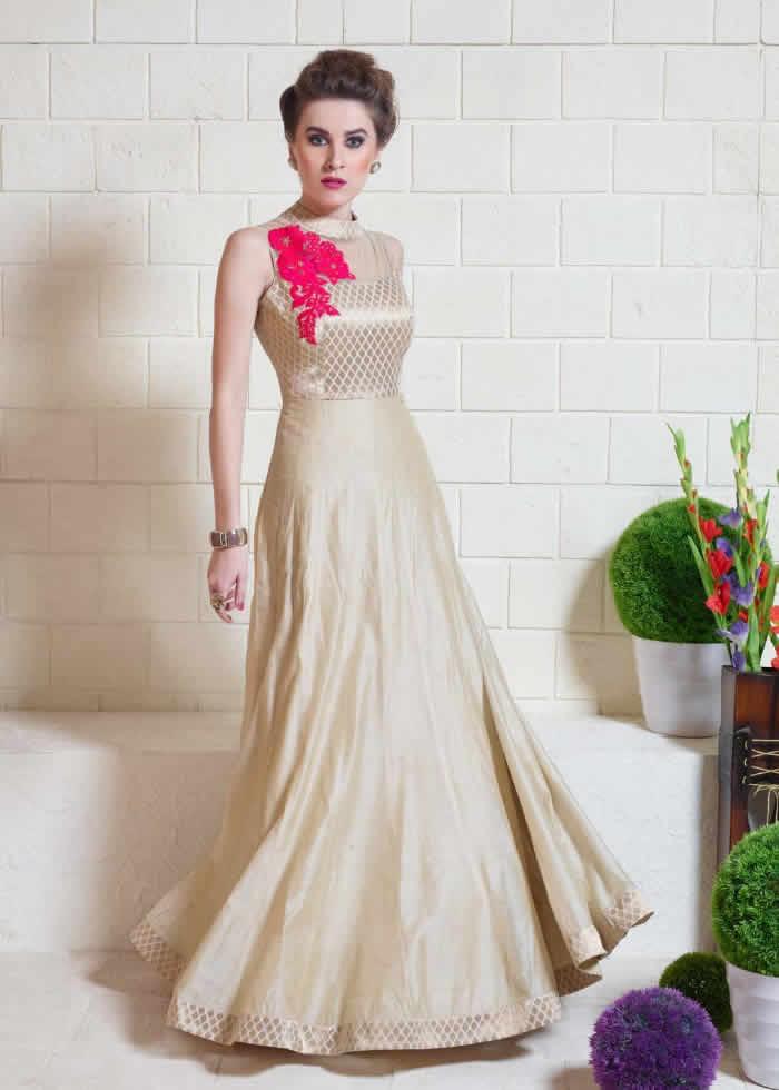 Silk gown designs