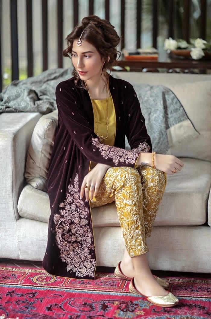 Velvet gown designs