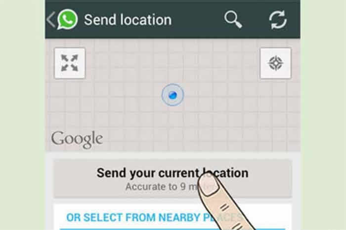 Whatsapp instant location tracking