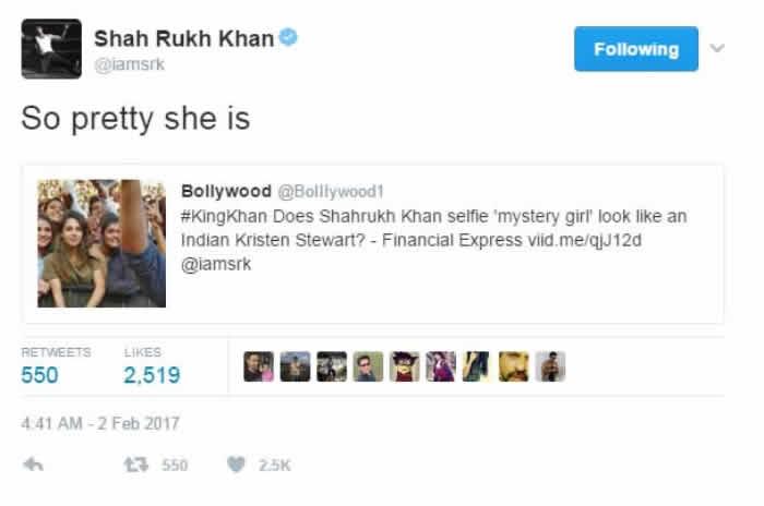 pretty girl in SRK