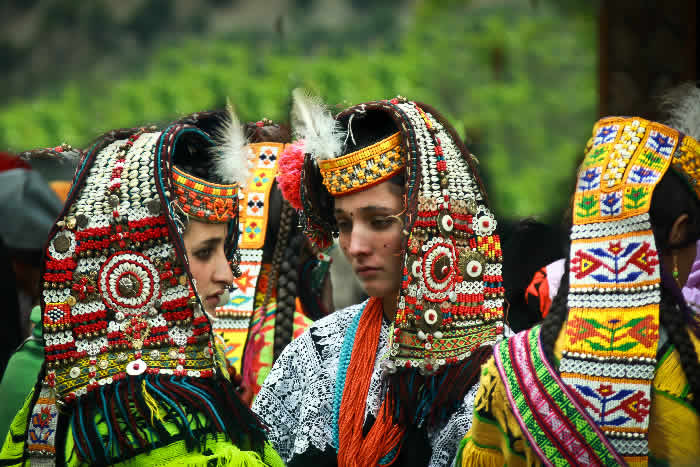 Kalash Girls-in-Tradional-Dress.