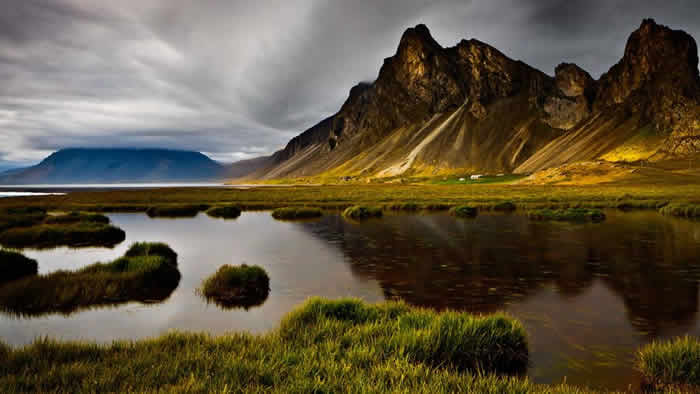 Hvalnes  Iceland,s Mountain Pond