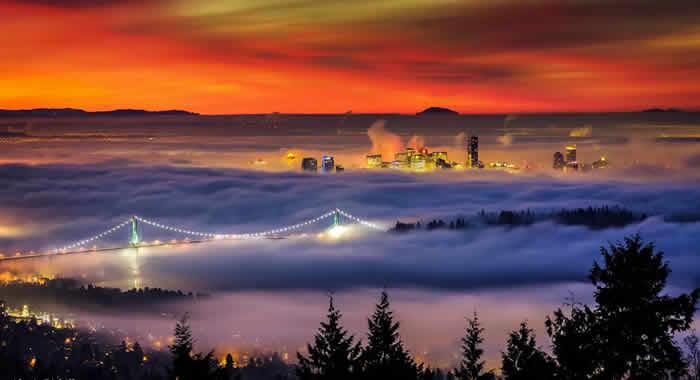 Fog Vancouver, Canada