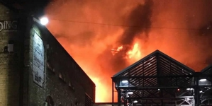 Fire Ravages Building In London's Camden Lock Market
