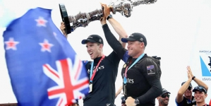 OMEGA Celebrates As Emirates Team New Zealand Wins The America's Cup