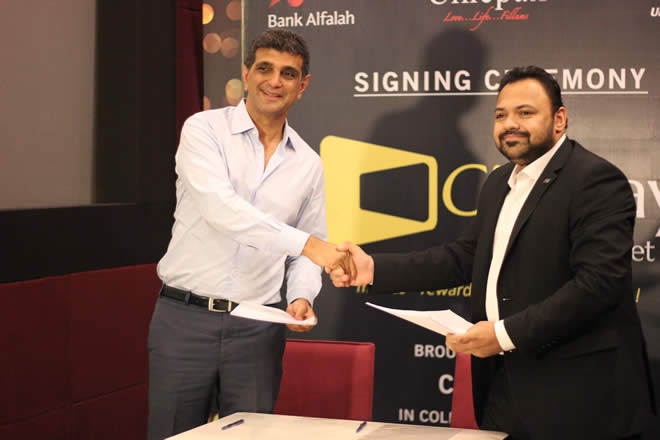 Arif baif Mohammad Chairman Cinepax and Nadeem Haroon