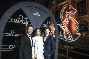 Eddie Redmayne OMEGA Celebrate Aqua Terra Collection