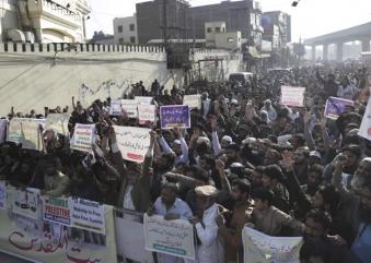 Religious parties protest against Trump's Jerusalem plan in Lahore
