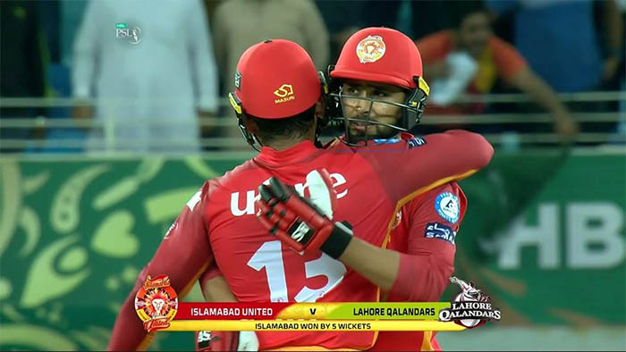 Islamabad United beat Lahore Qalandars by 5 wickets