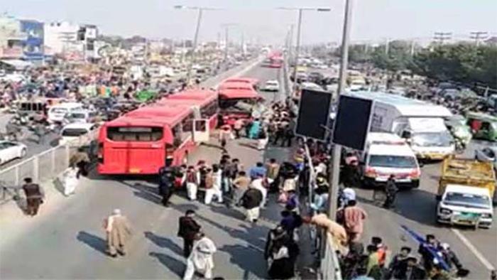 Metro Bus Accident In Lahore