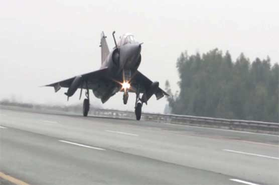 PAF displays successful landing of fighter jets on motorway