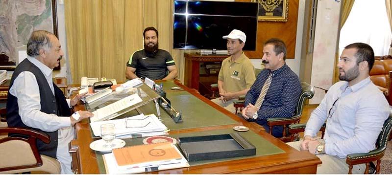Governor Balochistan appreciated Pakistan Canoeing team performance in International Championship Italy.