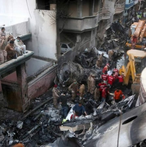 Sindh Health Ministry reports 97 Deaths, two Survivors in Plane Crash