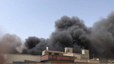 PIA plane crashes in Karachi's Model Colony