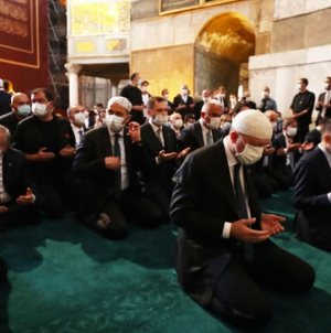 Erdogan Joins thousands to Pray for first time at Hagia Sophia Mosque in 86 Years
