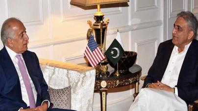 Khalilzad Meets Gen Qamar Amid Concern over Break in Intra-Afghan Talks
