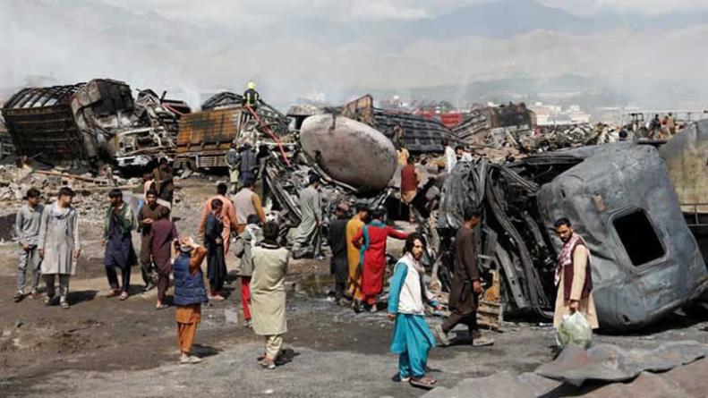 Seven killed in Kabul fuel trucks fire