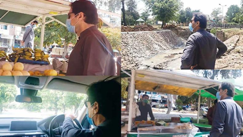 PM visits different parts of capital sans protocol