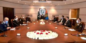PM Imran Khan chairs NICC Meeting at ISI HQ